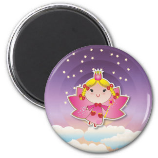 Airy Fairy Up In the Air Purple Pink Magnet