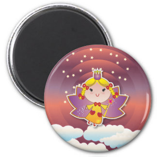 Airy Fairy Up In the Air Purple Red Magnet