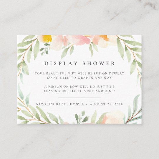 0bbe72c2c6aa Airy Floral Display Shower Card