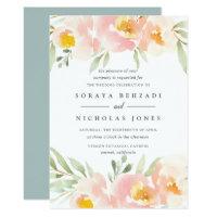 Airy Floral Wedding Invitation