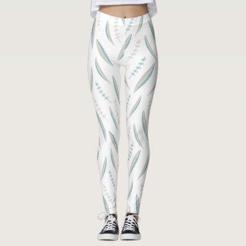 Airy Leaves Pastel leggings