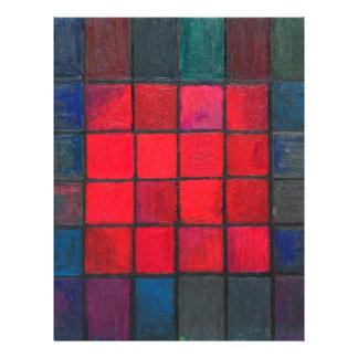 Aislado 16 cuadrados rojos expresionismo geométri membretes personalizados