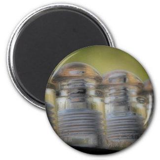 Aisladores antiguos imán redondo 5 cm