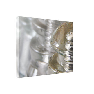 Aisladores de cristal claros impresión en lona estirada