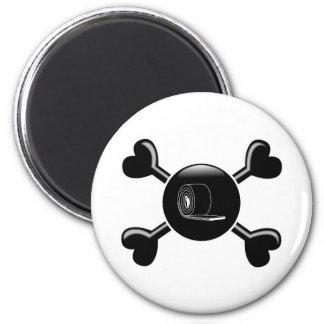 Aislamiento de la bandera pirata imán redondo 5 cm