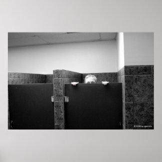 Aislamiento detrás de a puerta cerrada posters