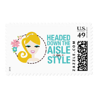 Aisle in Style Custom Stamp to look like Bride!