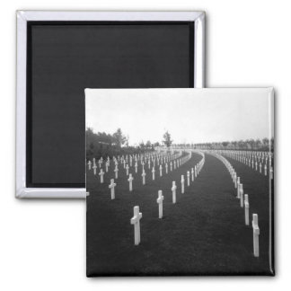 Aisne-Marne American Cemetery_War Image 2 Inch Square Magnet
