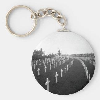 Aisne-Marne American Cemetery_War Image Basic Round Button Keychain