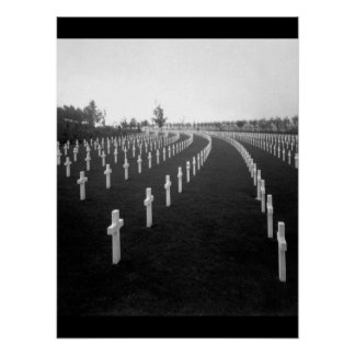 Aisne-Marne American Cemetery_War Image Poster