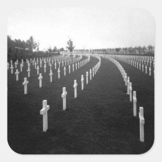 Aisne-Marne American Cemetery_War Image Square Sticker