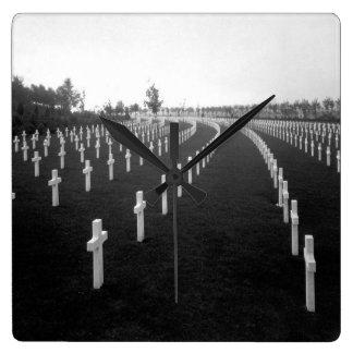 Aisne-Marne American Cemetery_War Image Square Wall Clock