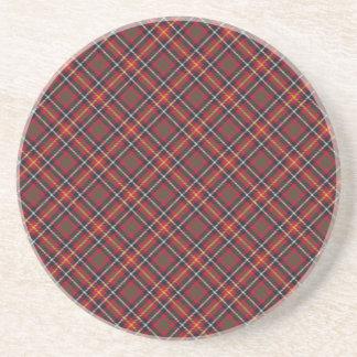Aitken/impresión diseñada tartán de Aikens Posavasos Personalizados
