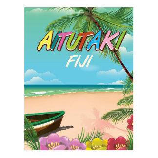 Aitutaki Air travel poster Postcard