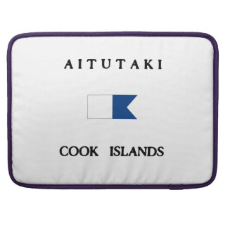 Aitutaki Cook Islands Alpha Dive Flag Sleeve For MacBook Pro
