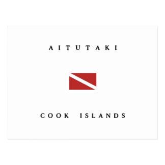 Aitutaki Cook Islands Scuba Dive Flag Postcard