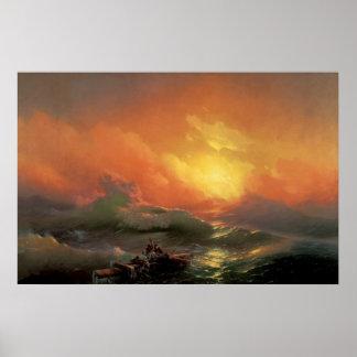 Aivazovsky, Ivan - la novena onda Póster