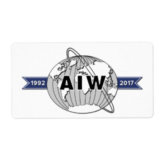 AIW 25th Anniversary Logo-8 Per Sheet Label