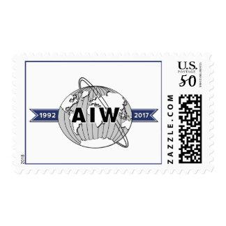 AIW 25th Anniversary Logo Postage