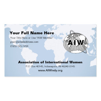 AIW Info Card and or Business Card