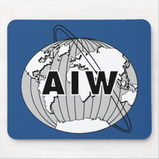 AIW Large Logo on Rectangular Blue Mousepad