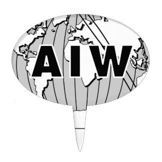 AIW Logo Cake Pick
