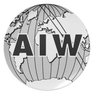 AIW Logo Dishware Plate