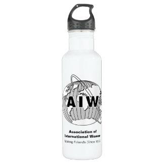AIW Logo, Making Friends Since 1992 Water Bottle