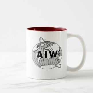 AIW Logo Mug - Maroon Interior