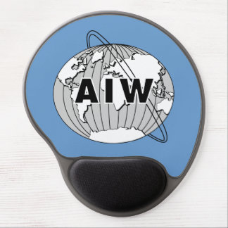AIW Logo on Blue Gel Mouse Pad