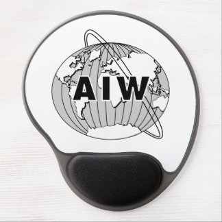 AIW Logo on White Gel Mouse Pad