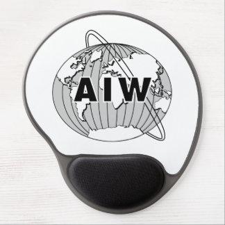 AIW Logo on White Mousepad Gel Mouse Pad