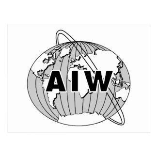 AIW Logo Postcard