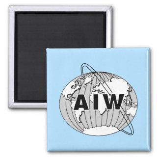 AIW Logo Sky Blue Magnet