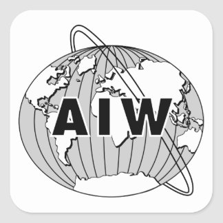 AIW Logo Stickers - Black & White