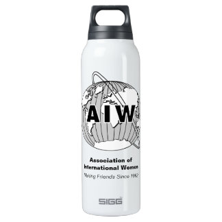 AIW Logo Water Bottle-Making Friends Since 1992 16 Oz Insulated SIGG Thermos Water Bottle