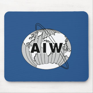 AIW Medium Logo on Rectangular Blue Mousepad