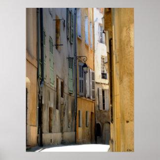 Aix Alley Poster