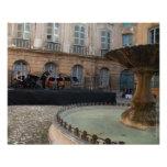Aix-en-Provence, cuadrado de Albertas, impresión Fotografía