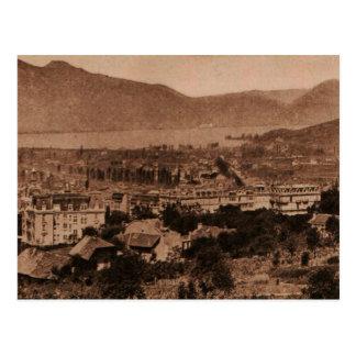 Aix les Bains Lac de Bourget France Replica 1923 Postcard