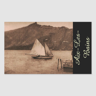 AIX-LES-BAINS - Lake Bourget - sailing boat Rectangular Sticker