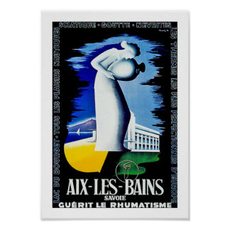 Aix Les Bains ~ Savoie Poster