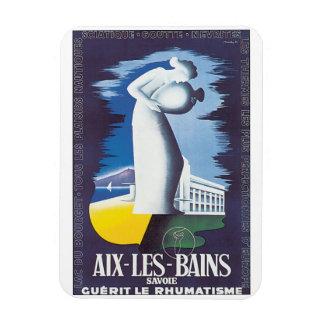Aix Les Bains Vintage Travel Poster Magnet