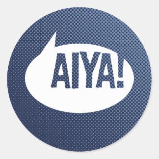 ¡Aiya! Pegatina Redonda