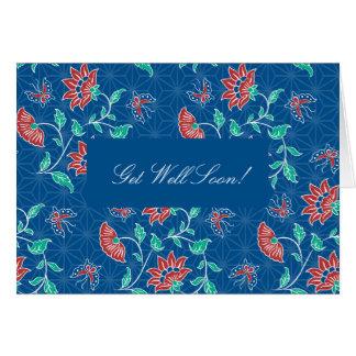 Aiyana Floral Batik Get Well Card