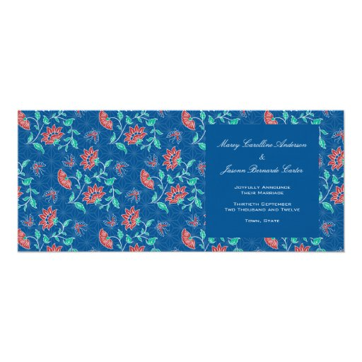 Aiyana Floral Batik Long Wedding Announcement