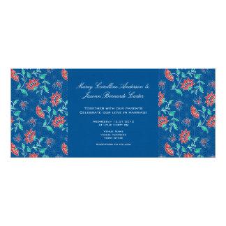 Aiyana Floral Batik Long Wedding Invitation 1