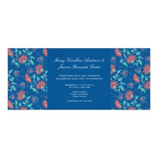 Aiyana Floral Batik Long Wedding Invitation 3