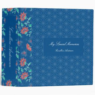 Aiyana Floral Batik Pattern Binder