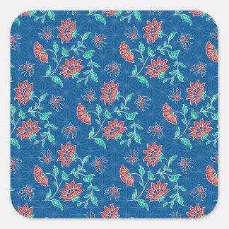 Aiyana Floral Batik Square Sticker